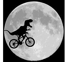 Dinosaur Bike and Moon Photographic Print
