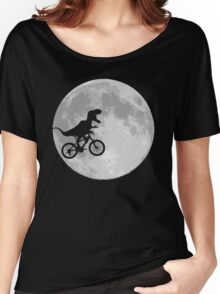 Dinosaur Bike and Moon Women's Relaxed Fit T-Shirt