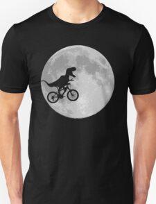 Dinosaur Bike and Moon Unisex T-Shirt