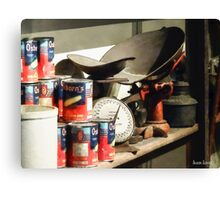 Scale and Canned Goods Canvas Print