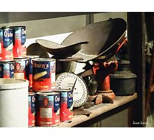 Scale and Canned Goods Photographic Print