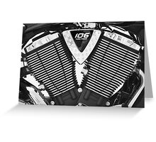 Victory motorcycle  detail Greeting Card