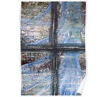 """Blue Window"" Artwork by Carter L. Shepard  Poster"