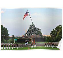 Iwo Jima Memorial - U. S. Marine Corps War Memorial Poster
