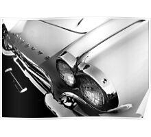 1961 Chevy Corvette - High Key Poster