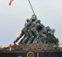 Iwo Jima Memorial - U. S. Marine Corps War Memorial Sticker
