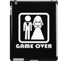 Game Over Marriage iPad Case/Skin
