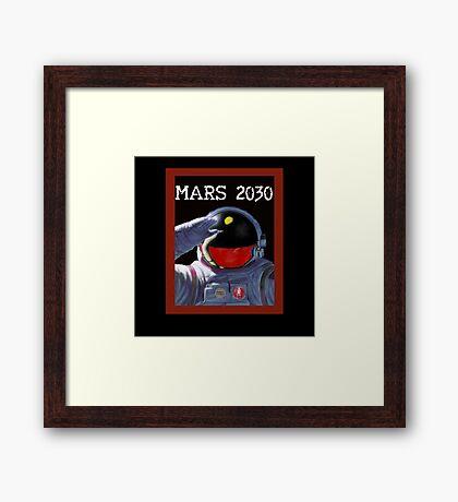 Scifi - Mars 2030 - Concept Poster Framed Print