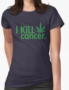 Cannabis T-shirt - i Kill Cancer  Womens Fitted T-Shirt
