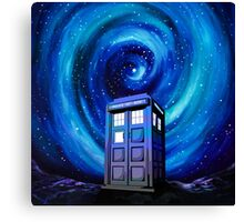 Tardis Vortex Starry Night Canvas Print