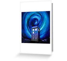 Tardis Vortex Starry Night Greeting Card