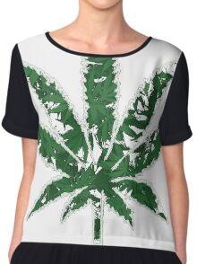 Cannabis T-shirt - Wonderfull Leaf 2 Chiffon Top