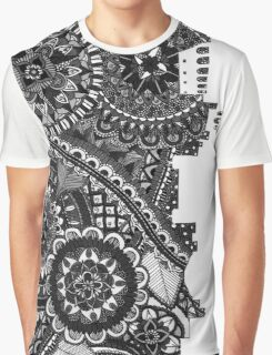 Zentangle City Rome [Black and White] Graphic T-Shirt