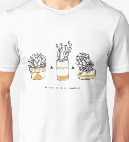 Rude Succulents Unisex T-Shirt