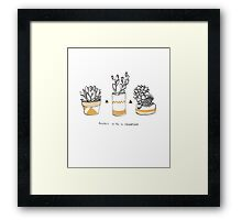 Rude Succulents Framed Print