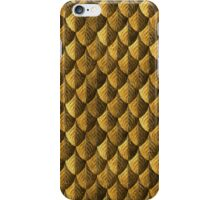 Feather Armor Scales - Old Gold iPhone Case/Skin