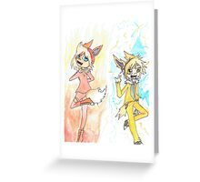 Flareon and Jolteon Greeting Card