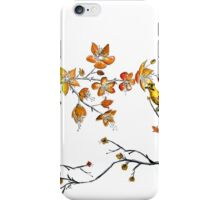 japanese flowers and birds iPhone Case/Skin
