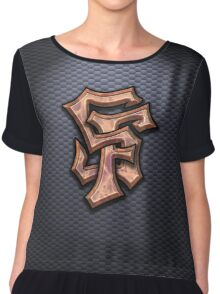 SF Graffiti Logo Chiffon Top
