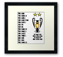 Juventus 1996 Champions League Winners Framed Print