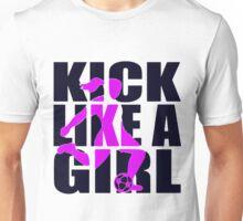 Soccer T-shirt  - Kick like a Girl  Unisex T-Shirt