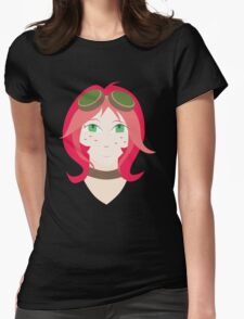 Steampunk Goggles Girl Womens Fitted T-Shirt