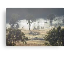 Australian Landscape - Morning Fog Canvas Print