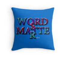 WORDS MATTER Art multi color 7B Throw Pillow