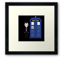 9th doctor and tardis Framed Print