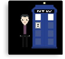 9th doctor and tardis Canvas Print
