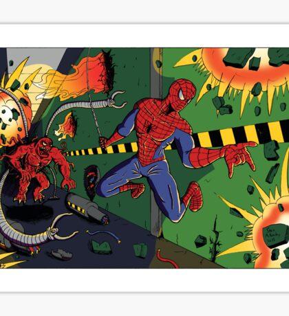 Spider-Man vs. Monster Ock Sticker