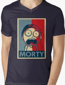 Morty & Rick 3 Mens V-Neck T-Shirt