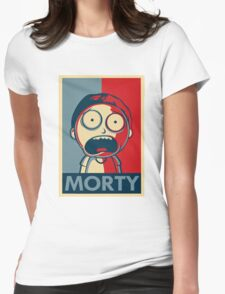 Morty & Rick 3 Womens Fitted T-Shirt