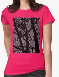 tree in the dark Womens Fitted T-Shirt