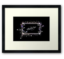 Believe - White Framed Print