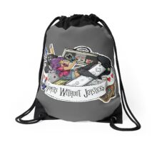 Gamers Without Joysticks (Med tone) Drawstring Bag