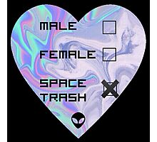 Gender is Space Trash Photographic Print