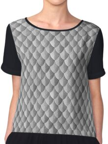 Feather Armor Scales - Silver Chiffon Top