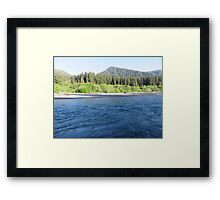 Pacific Northwest River Framed Print