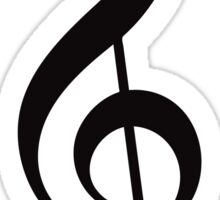 Treble Clef - Black Sticker