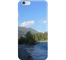 Pacific Northwest River, Mountain and Blue Sky iPhone Case/Skin