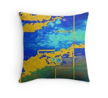 Cooling Metal Three Throw Pillow