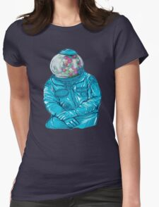 Bubble gum astronaut Womens Fitted T-Shirt