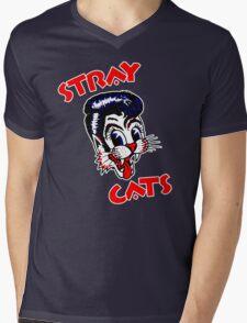 STRAY CATS LOGO Mens V-Neck T-Shirt