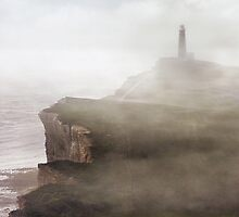 Morning impression with lighthouse by JBlaminsky