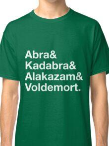 Stylish Pokemon T's   Abra & Kadabra & Alakazam & Voldemort   White on Dark Classic T-Shirt