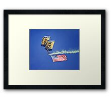 U.S. Navy Parachute Team, the Leap Frogs Framed Print