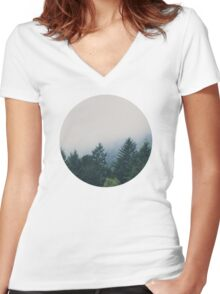 muir woods | mill valley, california Women's Fitted V-Neck T-Shirt