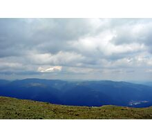 Natural scenery with mountains and cloudy sky. Photographic Print