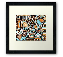 Bird Pattern Framed Print